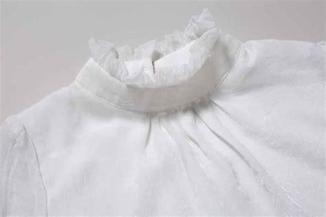 Baju Atasan Chiffon baju atasan chiffon putih lengan panjang jual model