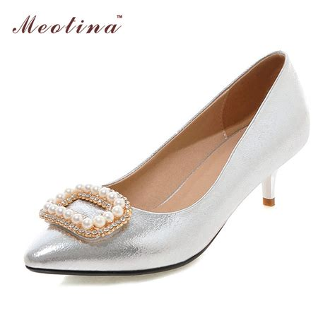 White Medium Heel Shoes Is Heel