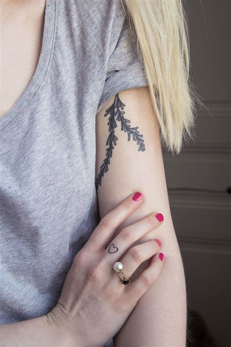 rosemary tattoo rosemary peau d encre