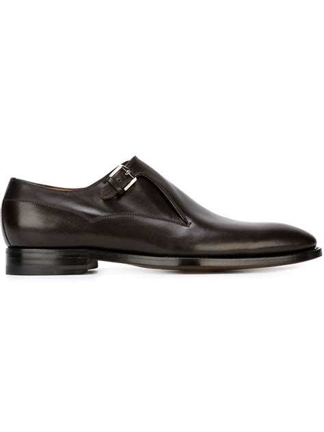 kiton monk shoes in black for lyst