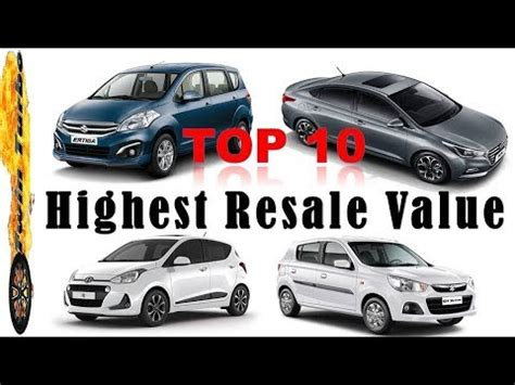 Top 10 Resale Cars by Top 10 Cars With Highest Resale Value In India Cars With