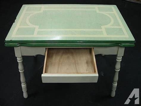 Vintage Enamel/Porcelain Top Kitchen Table And 4 Chairs