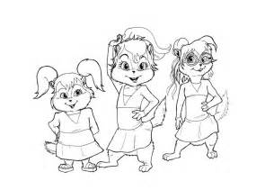 alvin and the chipmunks coloring pages free printable