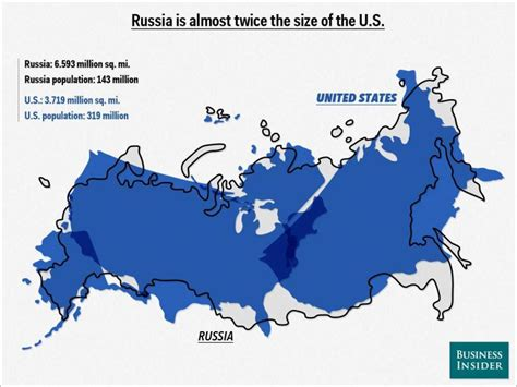 usa size map russia map compared to us