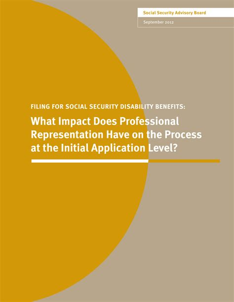 What Does Impact On A Application Filing For Social Security Disability Pdf