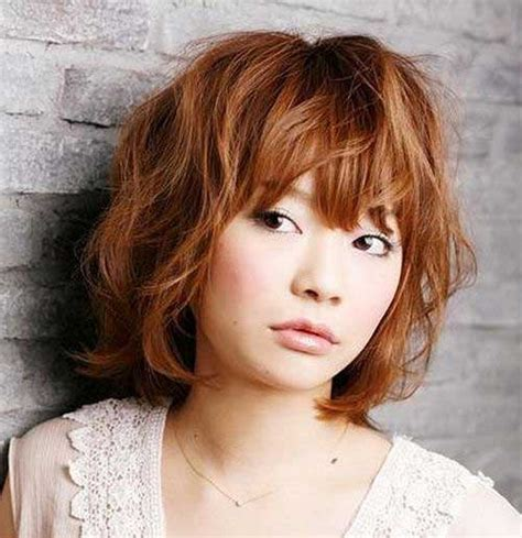 hairstyle for round face chinese short wavy hairstyles for round faces short hairstyles