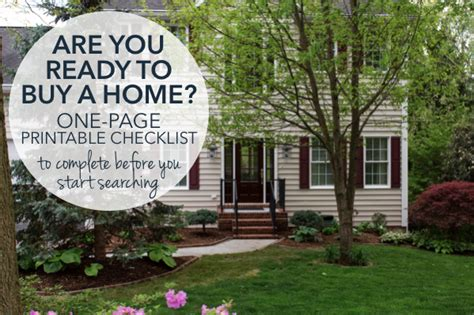 getting ready to buy a house are you ready to buy a home tasks to complete before starting your home search printable