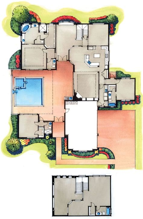 courtyard plans four bedroom courtyard floorplan plans i bedrooms