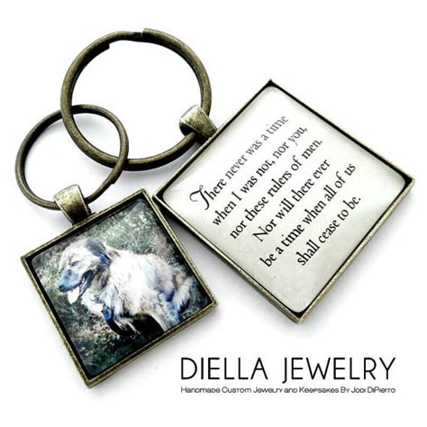 items similar to dog owner gift personalized dog memorial gift pet photo keychain custom
