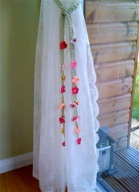 flower tie backs for curtains floral curtain tie backs allfreecrochet com