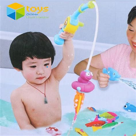 kids bathtub toys fishing duck reviews online shopping fishing duck