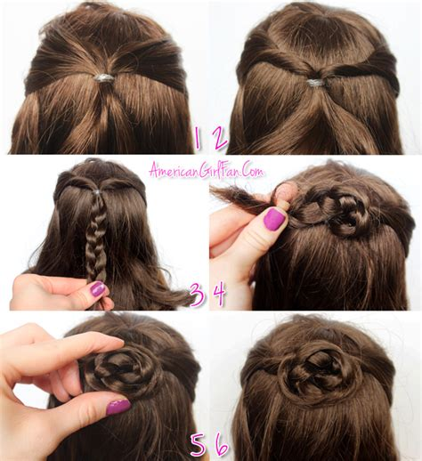 dolls fairstyle step by step american girl doll hairstyle half up braided bun dolls