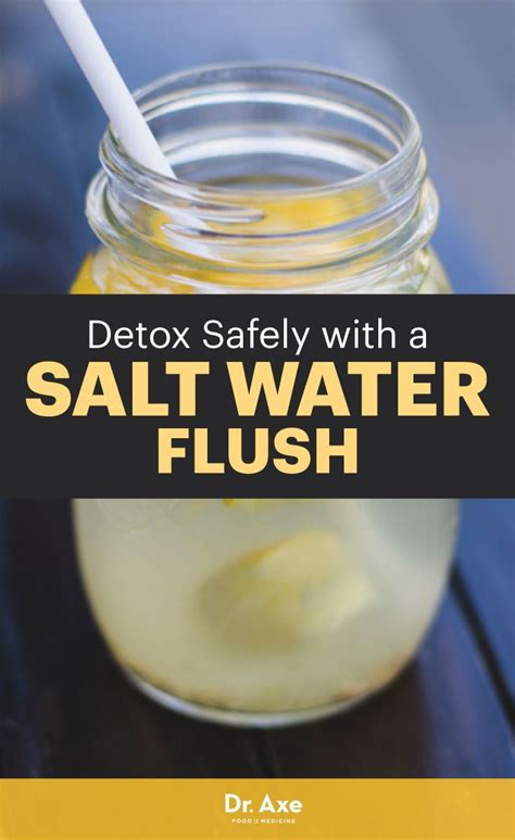 Does Flush And Detox Water Work by 1000 Ideas About Salt Water Flush On Colon