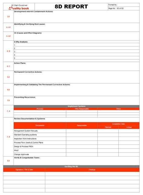 8d report sle pdf 8d eight disciplines the problem solving tool