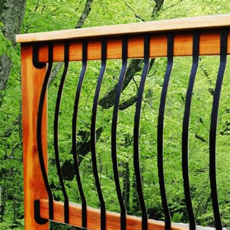 Deck Railing Metal Spindles 25 Best Ideas About Deck Balusters On Deck