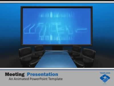 Meeting Presentation A Powerpoint Template From Presentermedia Com Conference Presentation Ppt Template