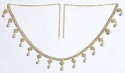 white stone studded  gold plated jhalar kamarband