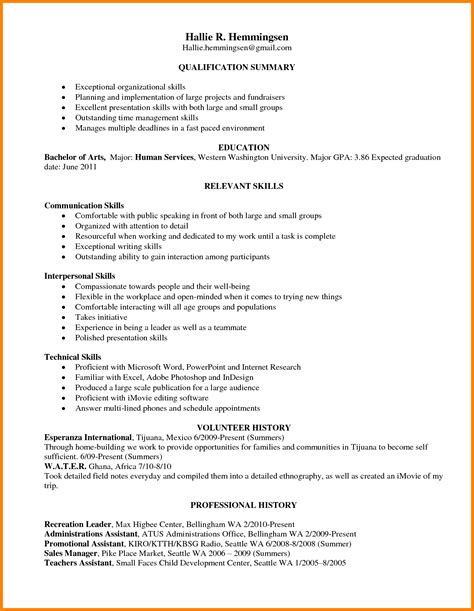 Skills For Resume 5 Leadership Skills On Resume Exle Ledger Paper