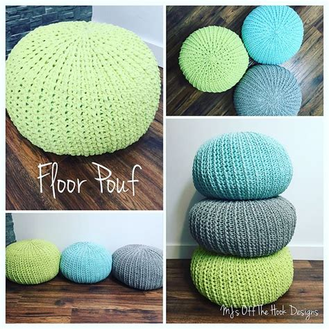 Pouf Ottoman Pattern by Best 25 Crochet Floor Cushion Ideas On
