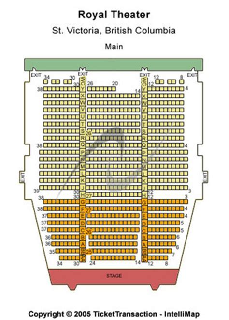 theatre royal seating chart royal theater tickets in columbia royal