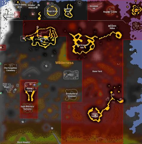 osrs runescape wilderness map deadman map showing multi safe zones sell trade game