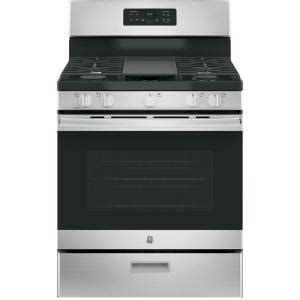 Home Depot Standing Ls by Ge 30 In 5 0 Cu Ft Free Standing Gas Range In Stainless