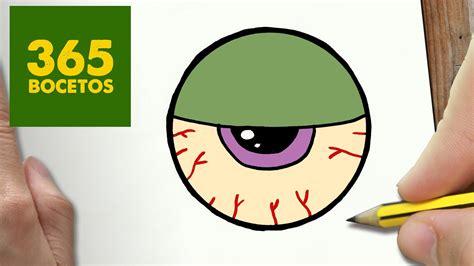 imagenes de ojos de zombie como dibujar ojo zombie kawaii paso a paso dibujos