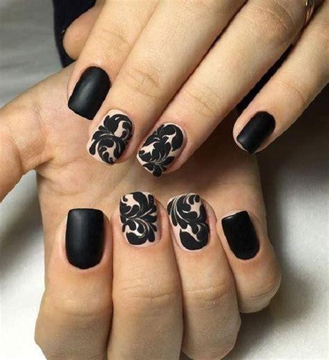 black matte nail art designs nails black nails