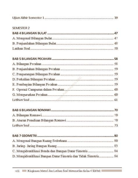 Jual Buku Soal Sd Kelas 4 jual buku ringkasan materi dan latihan soal matematika