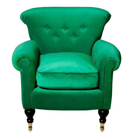 Green Velvet Armchair by Pantone Colour Of The Year Emerald Green Slummy Single