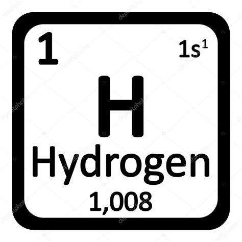 idrogeno tavola periodica icono de hidr 243 geno de elemento de tabla peri 243 dica vector