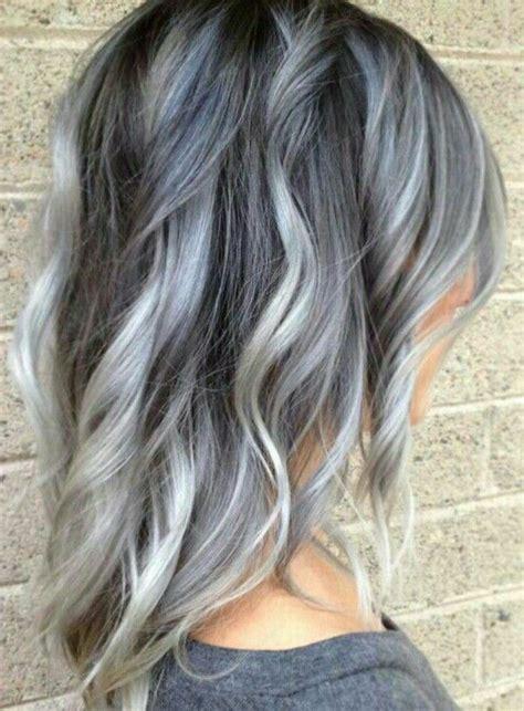 bildergebnis fuer braune haare graue straehnen graues