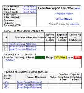 Executive Update Template by Report Template 16 Free Documents In Pdf Word