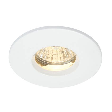 Bathroom Recessed Lights Uk Saxby Dl805w Ip65 White Bathroom Downlight Spotlight