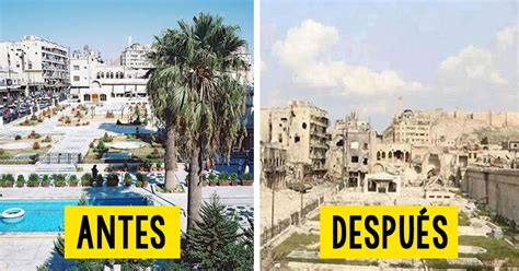 imagenes impactantes en siria 20 impactantes im 225 genes del antes y despu 233 s de la guerra