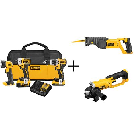 dewalt 20 volt max lithium ion cordless combo kit 3 tool