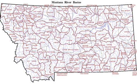 map of rivers in montana map of montana rivers travelsfinders