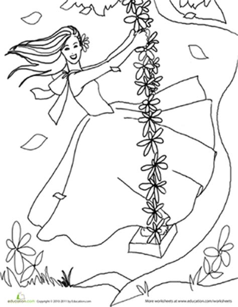 color the pretty princess 3 worksheet education com