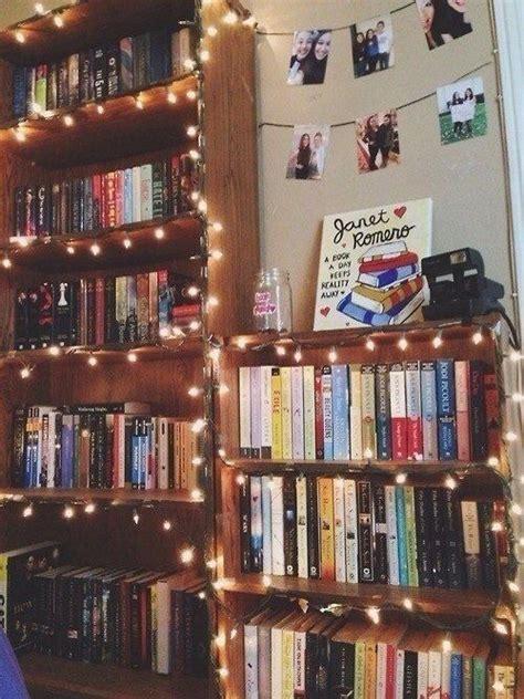 Book Corners Fairy Lights And Bookshelves On Pinterest Bookshelves With Lights