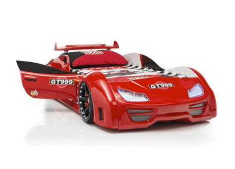 red race car bed speedster gt999 red car bed with lights sounds doors
