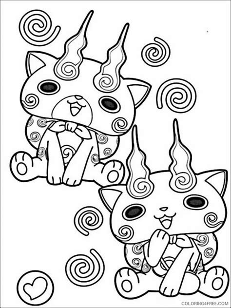 yo kai watch coloring page yo kai watch coloring pages printable coloring4free