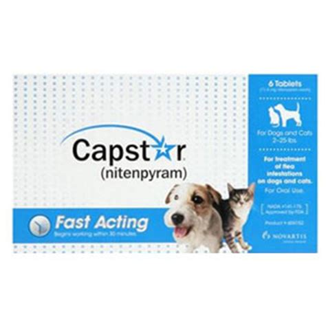 capstar for dogs capstar for cats dogs 2 25 lbs 6 tablets blue vetdepot