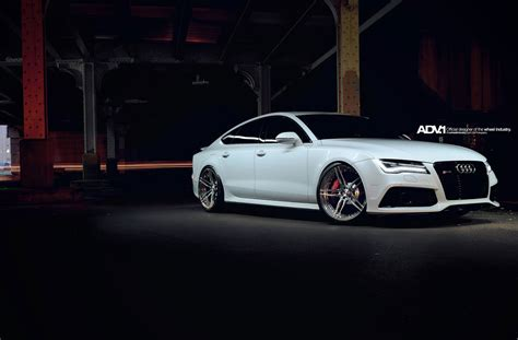 Hd Car Wallpapers Audi Desktop S6 by Adv1 Wheels Audi Rs7 Coupe Tuning White Wallpaper