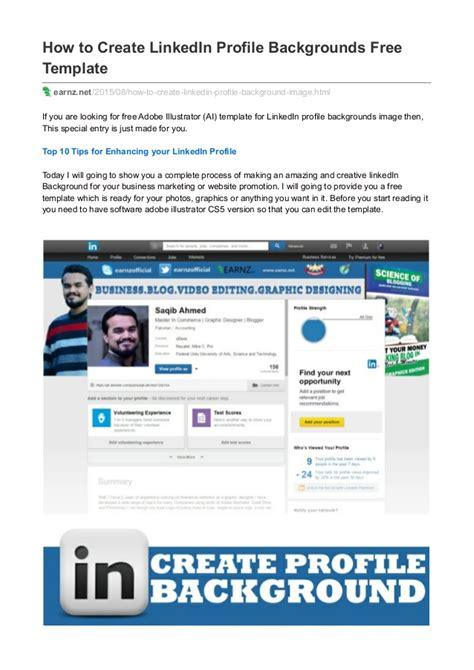 How To Create Linkedin Profile Backgrounds Free Template Linkedin Website Template