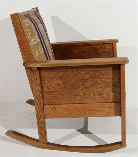 Mission Style Chair by Late 19th Century American Craftsman Mission Style Oak
