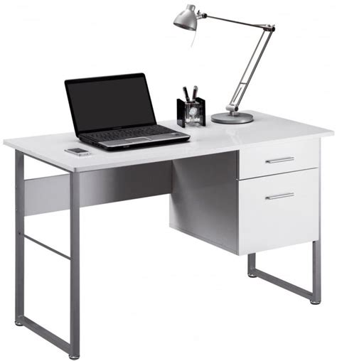 Modern Workstation Desk Buy Alphason Cabrini White Modern Desk Aw22226 Wh Cfs Uk