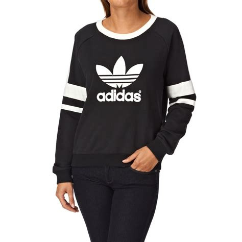 Sweater Adidas Logo adidas originals logo crew sweatshirt black free uk