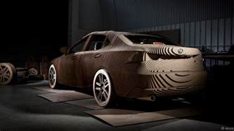 Where Do They Make Lexus Cars Lexus Builds An Elctric Car Made From Laser Cut Cardboard