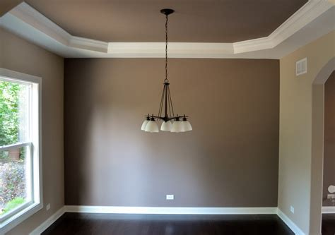 poised taupe paint new home in geneva traditional dining room chicago