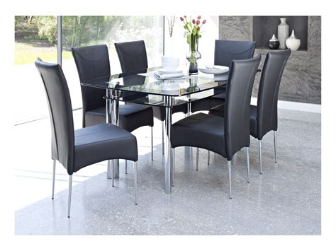 glass dining table for 2 glass dining table with black chairs whatever